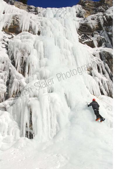 Icefall climbing